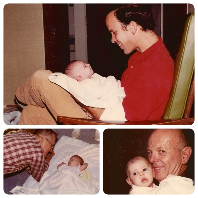 Here's a baby Meghan with the most wonderful daddy and grandpas that a girl could ask for.
