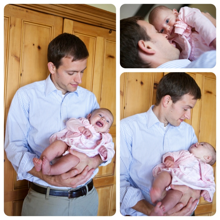 I forced my hubby to take a few Father's Day photos with Eva Jane. (He hates being behind the camera more than I do...and poor guy's married to a photographer.)